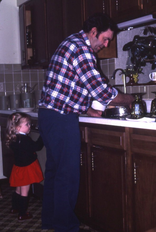 Grandpa & Clare in the Kitchen