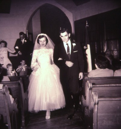 Phil & Myrna Down the Isle