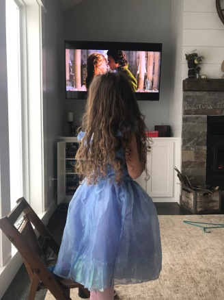 Cinderella watching cinderella :).